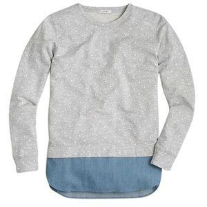 J. Crew | Dotted Chambray Sweatshirt